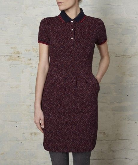 Floral Print Fred Perry Shirt Dress