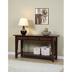 @Overstock - Add a touch of sophistication to your home decor with a Talisman console table  Living room furniture has a walnut cherry finish  Accent table has three drawers for storagehttp://www.overstock.com/Home-Garden/Talisman-3-drawer-Console-Table/4068566/product.html?CID=214117 $239.99