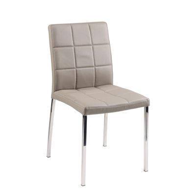 Jenkins faux leather dining chair stone