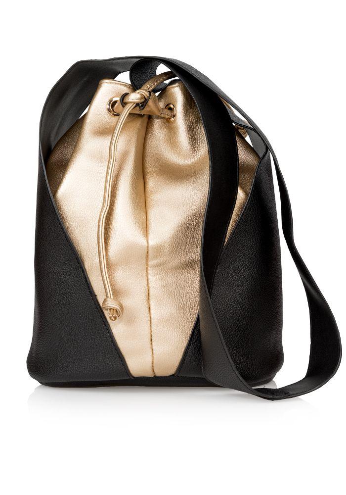Τσάντα δίχρωμη πουγκί
