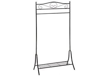 Klädställning metall antik svart på Tradera.com - Hallmöbler | Möbler |