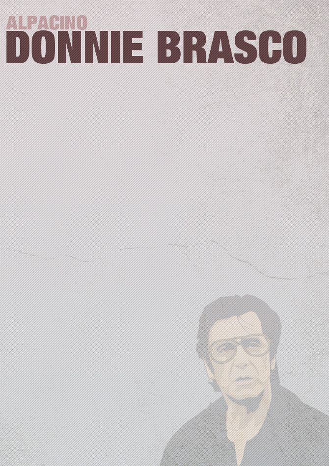 "Donnie Brasco - simple poster of Al Pacino as Benjamin ""Lefty"" Ruggiero #GangsterMovie #GangsterFlick"