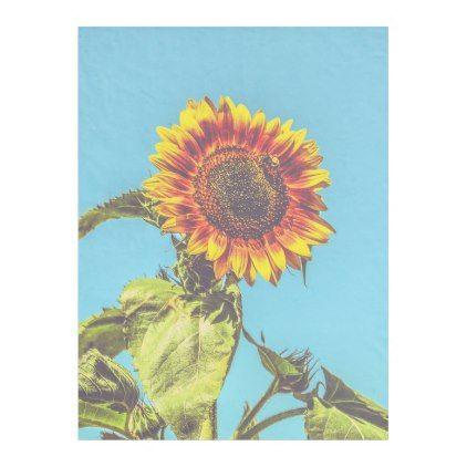 Sunflower & Bumblebee Flowers SmallFleece Blanket - individual customized designs custom gift ideas diy