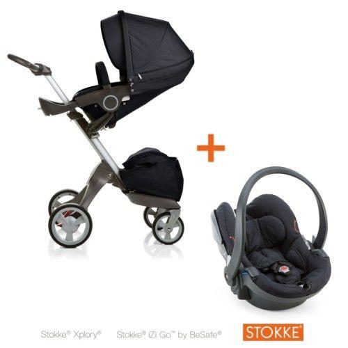 Spécialement étudié pour accompagner l'enfant de sa naissance à ses 4 ans, ce pack Stokke comprend une poussette Xplory et un siège-auto groupe 0/0 Izi Go. La poussette Xplory offre une multitude de réglages pour le confort de l'enfant et de l'adulte. L'assise rembourrée est particulièrement moelleuse et ajustable en profondeur. Le siège se positionne face à l'adulte ou face à la route, sa hauteur est réglable sur une grande amplitude, plusieurs inclinaisons sont possibles entre la position…