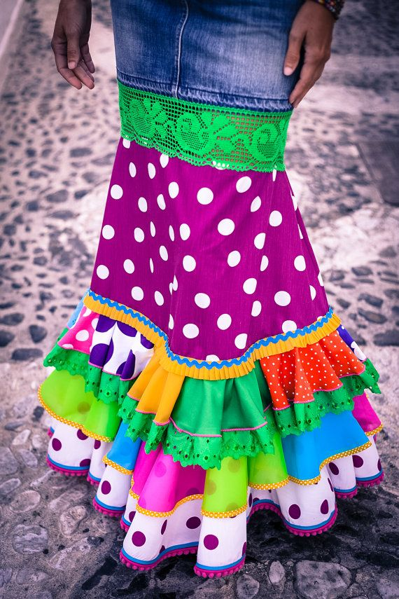 Urban Flamenco Long Skirt by MadeinFrigiliana on Etsy, €175.00