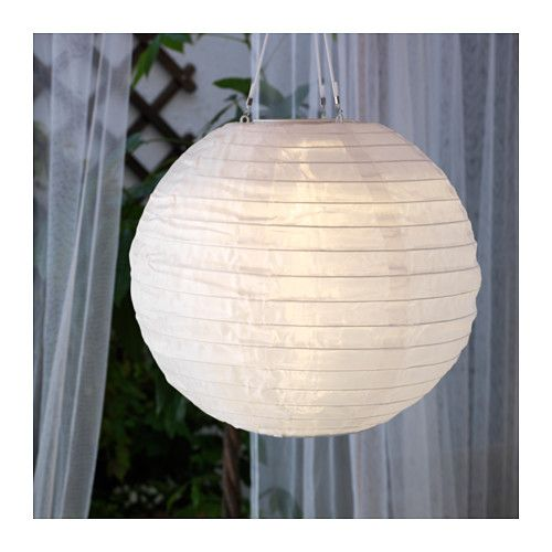 IKEA - SOLVINDEN, LED solar-powered pendant lamp, , Helps you save energy and reduce your environmental impact because it is powered by a solar panel that converts sunlight into electricity.Solar cells transform sunlight into energy - requires no electrical connections.Easy to use because no cords or plugs are needed.