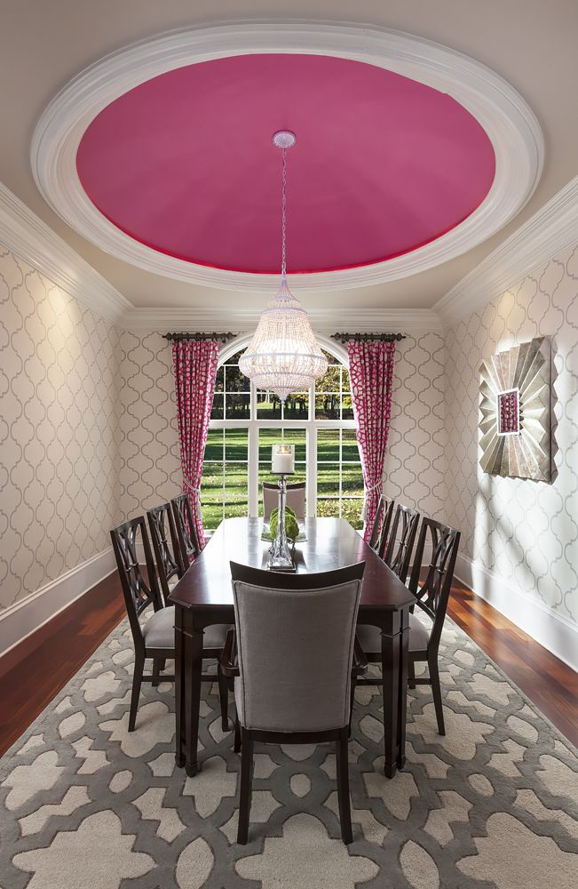 Best 20 pink dining rooms ideas on pinterest pink - Interior house painting charlotte nc ...