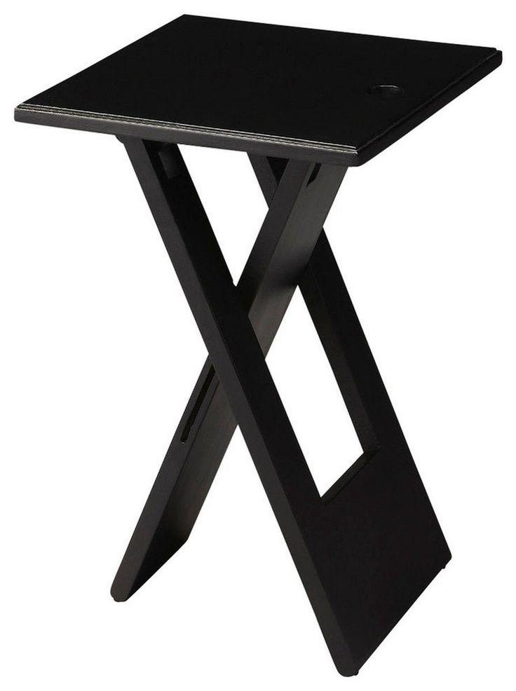 Hammond Transitional Square Folding Table Black