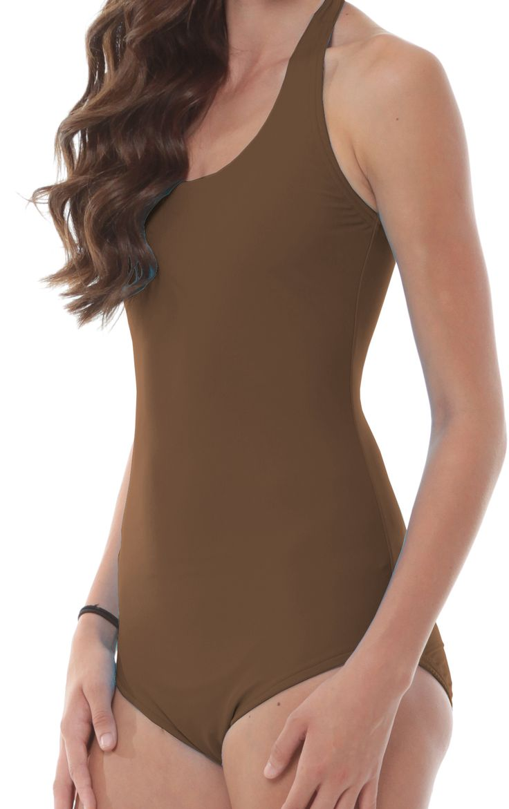 Brown Halter Leotard 200+ color Choices. Handmade in the USA! $26.99