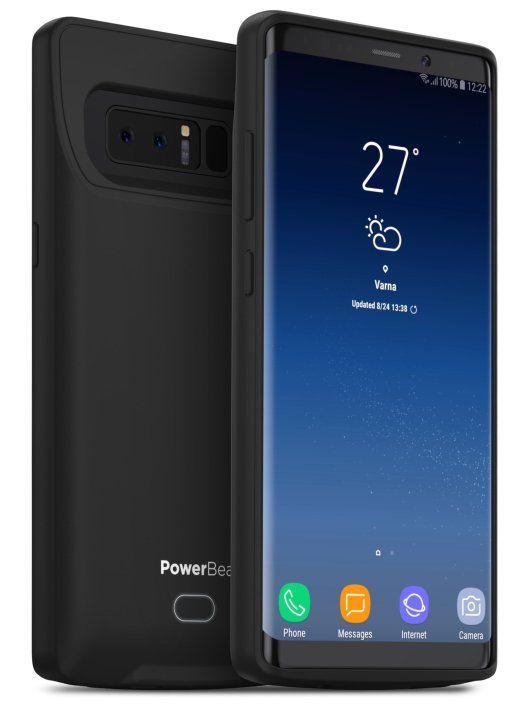 hot sale online d00d3 aa5df PowerBear Samsung Note 8 Battery Case [4500 mAh] Type-C Charger Case ...