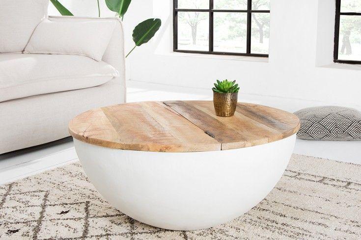 Elegant Coffee Table Mango Wood White Riess Ambiente De In 2020 Elegant Coffee Table