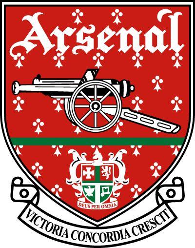 """Arsenal FC- Het logo is grotendeels gebaseerd op het stadswapen van The Borough of Woolwich, waar de club tot 1913 gevestigd was. Voor het 125 jarige bestaan van de club, besloot men een speciaal logo te ontwerpen met daarop het kanon, 15 laurierbladen, 15 eikenbladen en het woord """"Forward"""". De 15 laurierbladen staan voor de vijftien oprichters. Tevens staat laurier voor kracht.  De eikenbladen staan voor de plek waar de club is opgericht(Royal Oak pub). Forward is het motto in de strijd."""