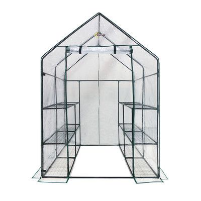 Features:  -Note: Ties to attach the shelves to the frame, and anchors to attach the greenhouse to the ground is not included in this purchase..  -Ideal for displaying greenery in full sun.  -Strong d