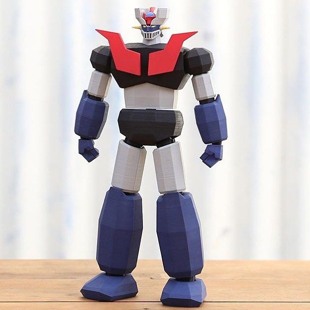 @biglildesign Amazing Mazinger Z Printed On A Ultimaker2 And Hand Painted. by third_dimension_design