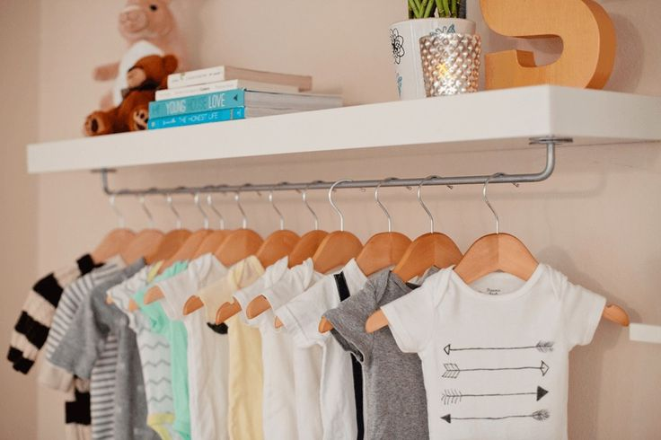make easy diy nursery wardrobe shelf ikea ideen kindergarten