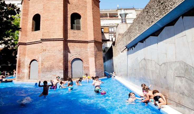 Top public outdoor swimming pools in Barcelona Outdoor Swimming Pool, Swimming Pools, Go Spain, Under The Shadow, Water Tower, Time Out, Holiday Destinations, Places To Go, Public