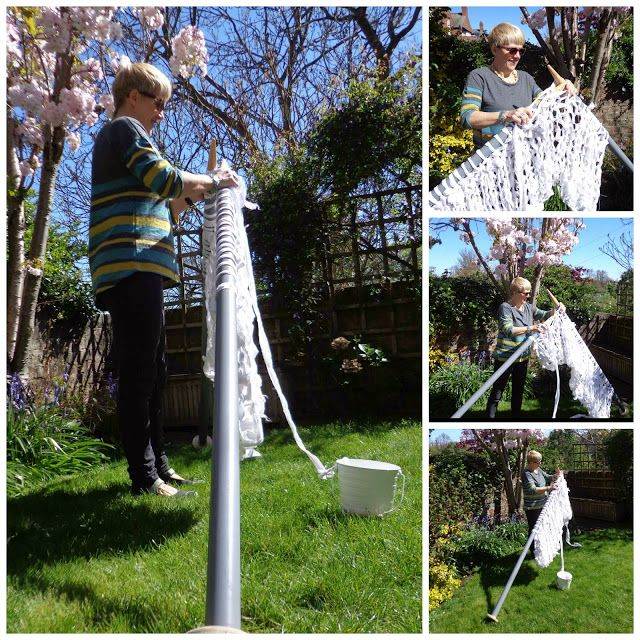 Extreme Knitting Continues with a Giant White Poppy