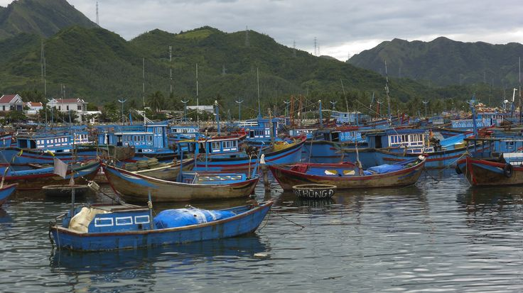 A fishing village on the coast of Vietnam