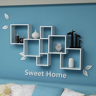 Állítsa be a 3 Modern minimalizmus szilárd háztartási Oldalfali Storage Polc - USD $ 89.99