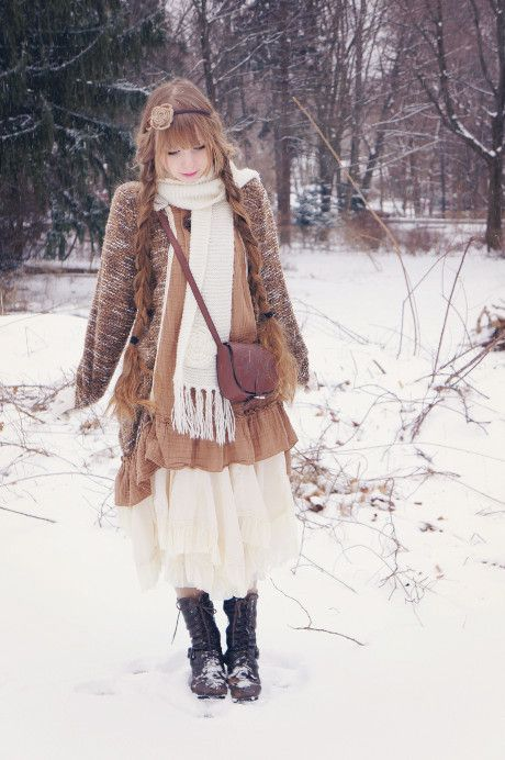Fall/ winter style inspiration: mori girl style / 森ガール