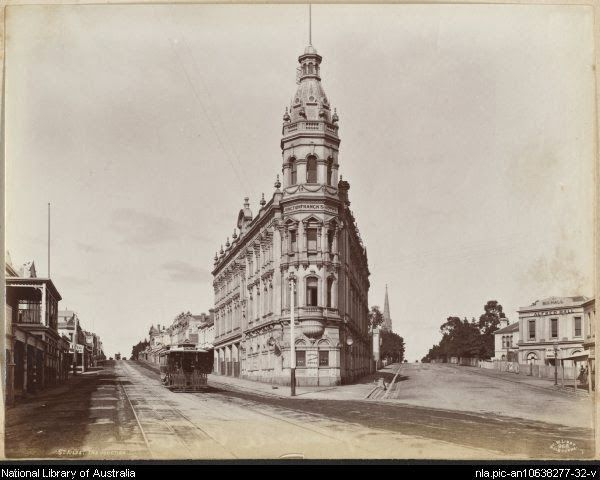 The Junction Hotel was a St Kilda icon up until its demolition in the early 1970s. (1890s) From the 1840s to the 1890s saw a transformation of the landscape from natural to urban. The establishment and rebuilding of the Junction Hotel is a good illustration of this change. This photograph shows a rebuilt Junction Hotel, larger and grander than its processor in conjunction with the new transport technology of the time, a cable tram, running down High Street and Barkley Street on the left.