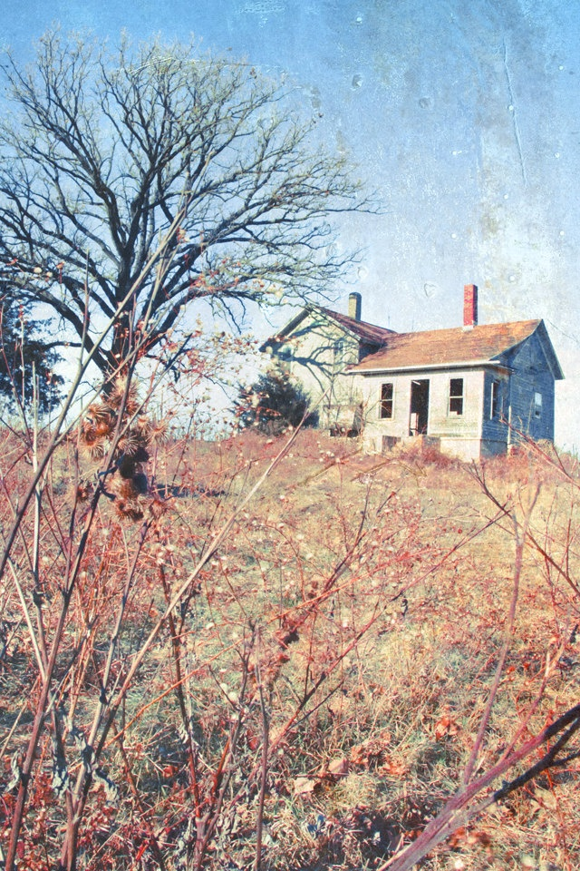 Abandoned Farmhouse Rural Distressed Wall Art - 11x14 Photograph with white border. $24.00, via Etsy.