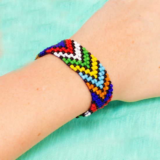 diy bead weaving bracelet instructions
