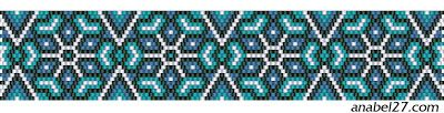schema mosaico braccialetto di perline di loro pdetenie mattone mattoni modello peyote