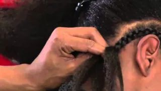 How To Braid Extensions - YouTube