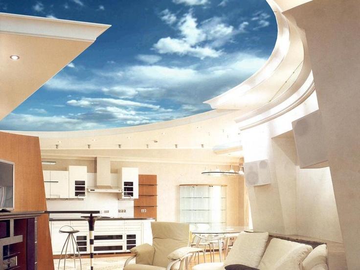 Белый потолок или главный герой интерьера? #дизайнинтерьера #excll #решения