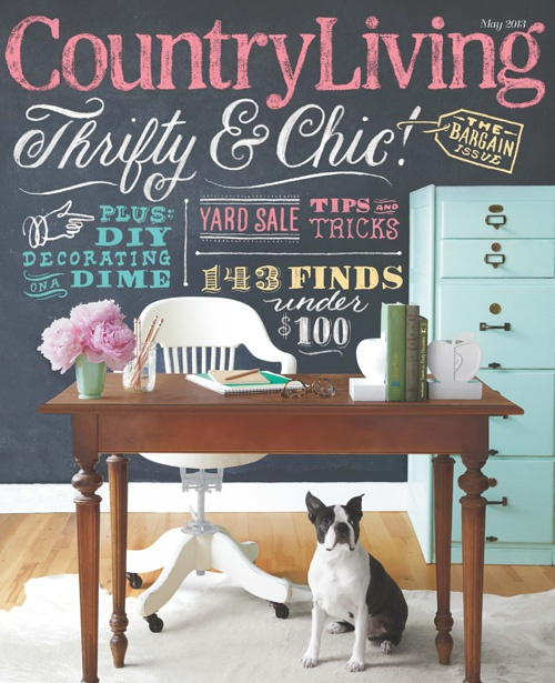 A Country Farmhouse Chalk Board Wall Chalkboard Country Living Magazine