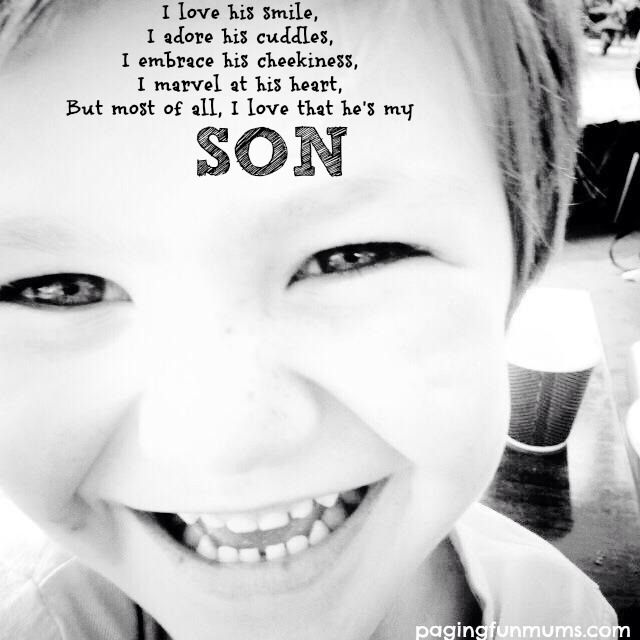 Such a beautiful quote…little boys are just so special!...need to do this with a picture of little man.