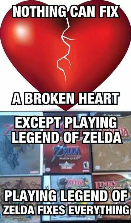 Not that I have a broken heart. But this is true. In fact, if you find four pieces, you get a brand new heart! <<< or 5, in the mysterious case of Twilight Princess XD