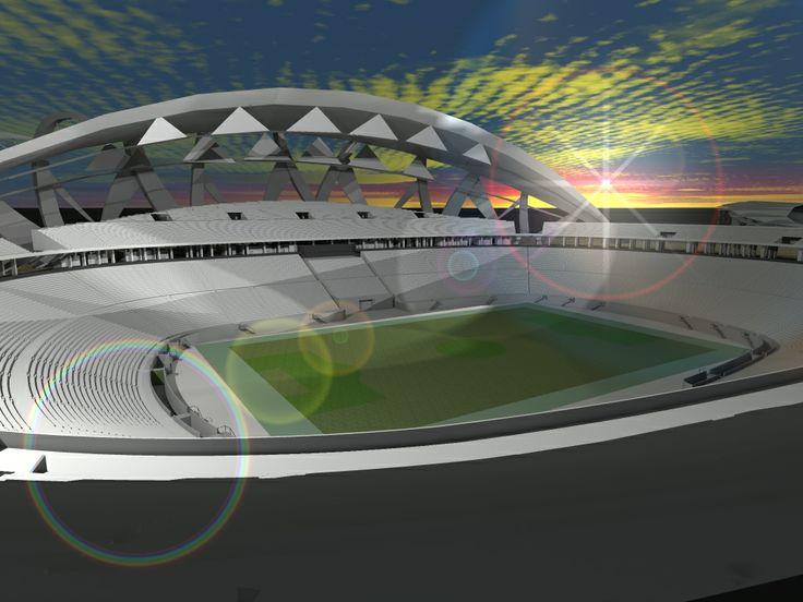 #CARD #render #night #interior #estadio #tallerV #final