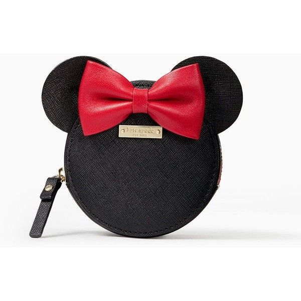 Kate Spade Kate Spade New York For Minnie Mouse Coin Purse ($88) ❤ liked on Polyvore featuring bags, wallets, bow bag, coin purse, coin pouch wallet, kate spade wallet and coin pouch