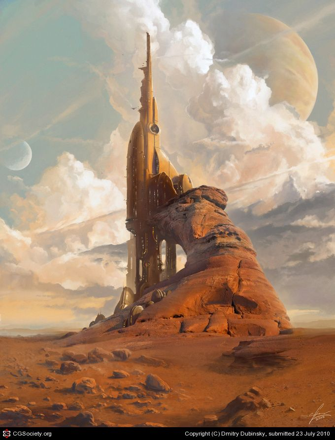 Awesome off-world colony or city.  Dmitry Dubinsky    AVA THOUGHTS: This really spoke to me both because of the desert setting and because Safara has several moons visible in the sky.