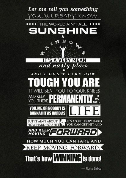 Inspirational and Motivational quote Rocky balboa  by Lautstarke, $25.00