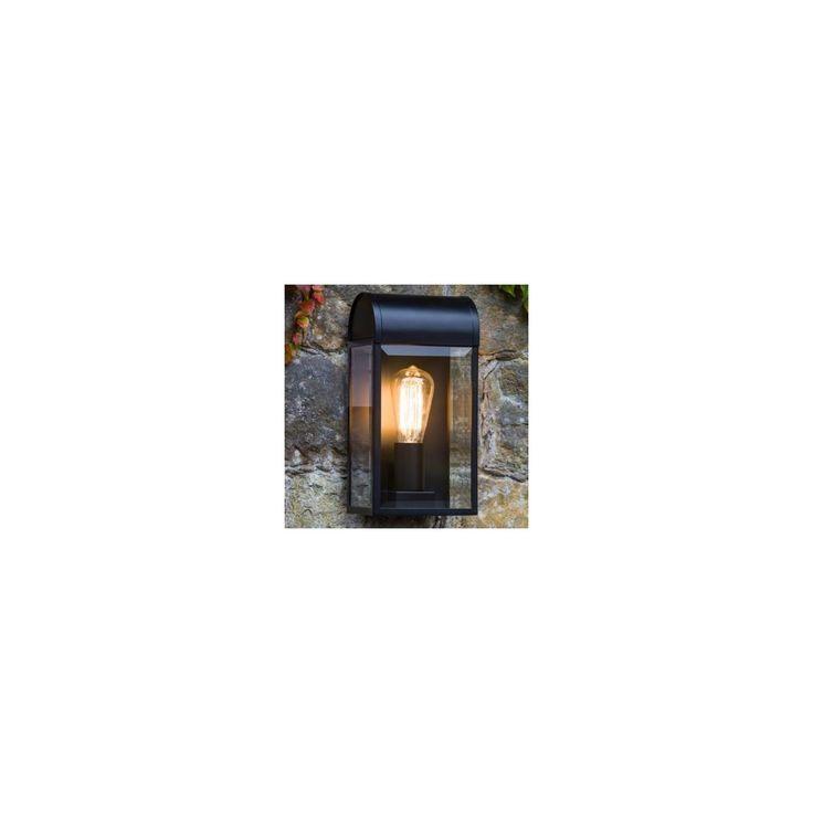Astro Lighting The Newbury 7267 outdoor black & glass wall light - Astro Lighting from Lightplan UK