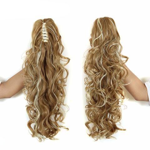 "20"" Long Claw Clip Drawstring Ponytail Fake Hair Extensions False Hair Pony…"