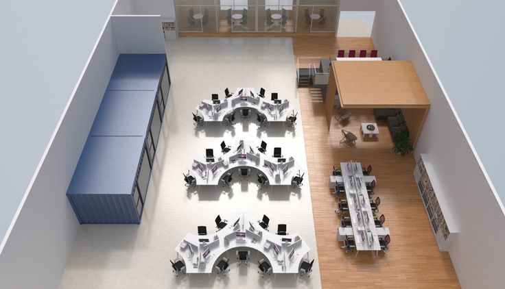 Great overhead view of our office Interior project featuring @howimports workstations #interior #office #workspace