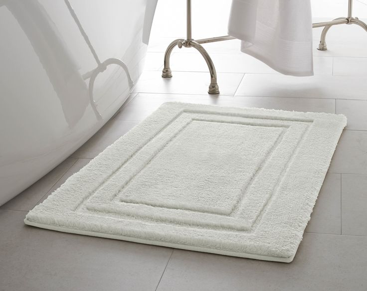 Features:  -Includes (1) Laura Ashley plush micro-polyester decorative bath rug.  -Plush surface wicks away water for quick drying and long lasting beauty.  -Non-skid latex backing and slip resistant
