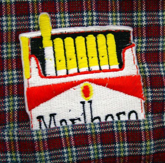 Marlboro cigarette out of pocket patch by Jess by jesswarbyshop