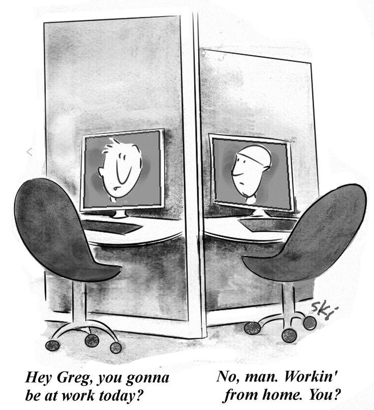 37 Best Telework-Telecommuting-Comics Images On Pinterest