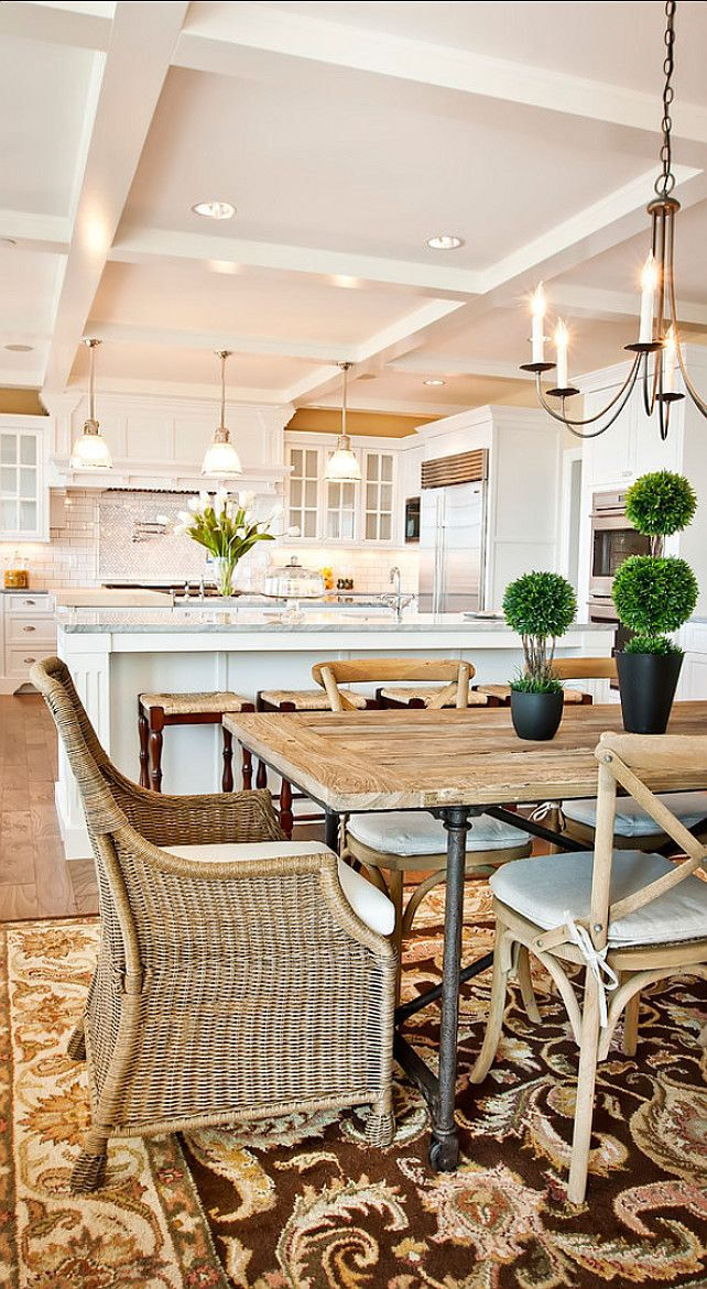 Family Home with Fabulous White Kitchen   Home Bunch   An Interior Design    Luxury Homes  Wicker Dining ChairsKitchen Table. 25  best ideas about Kitchen Dining Combo on Pinterest