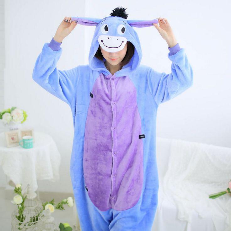 Women's Pajama Flannel Animal Onesies