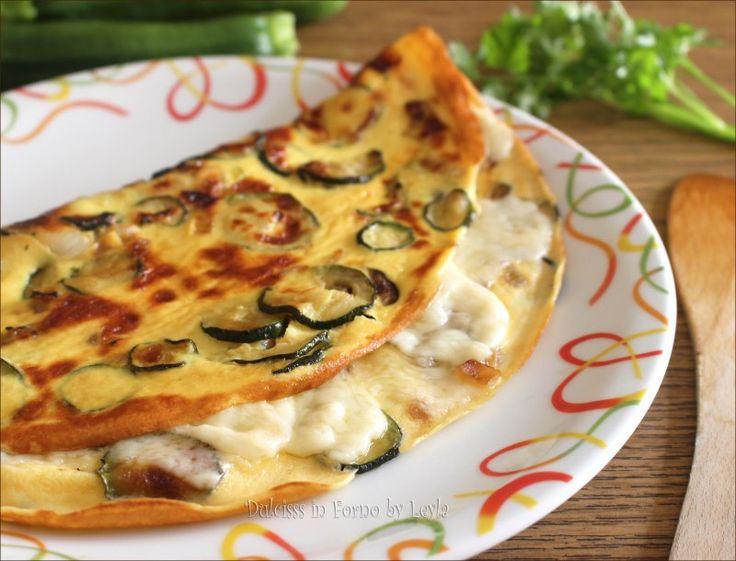 Frittata alle zucchine con mozzarella o scamorza