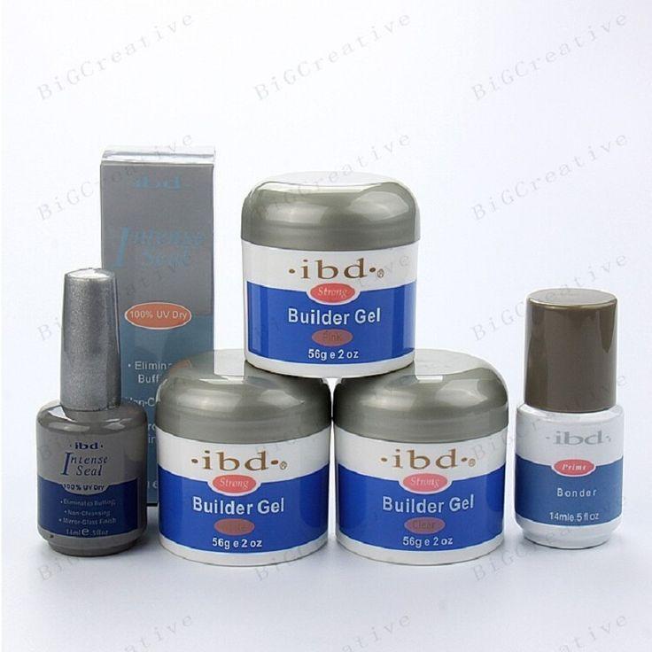 30.00$  Watch here - http://aliovj.shopchina.info/go.php?t=32759904456 - 2016 IBD Builder Gel 3 col 2oz / 56g Strong UV Gel for nail saloon art false tips + Primer Bonder+ Intense Seal 5pcs/set 3 color  #aliexpress
