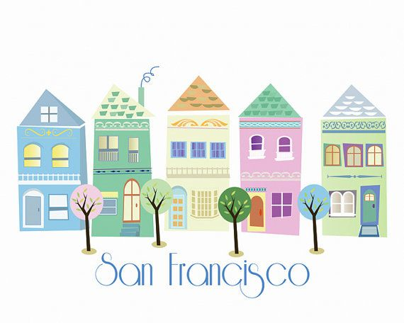 This is a print of the great city of San Francisco. The colors are pastel and go well together. Its printed on beautiful Fine Art Paper(190gsm) that has a slight texture to it. It not only looks great but feels great too - you will love it.  Here are a few quotes about San Francisco:  San Francisco has only one drawback - 'tis hard to leave. (Rudyard Kipling)  San Franciscans are very proud of their city, and they should be. It's the most beautiful place in the world. (Robert Redford)  Now…