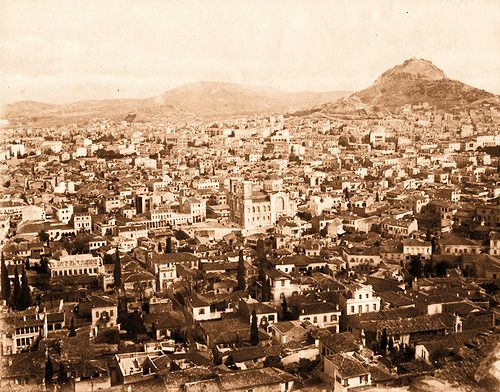Athens_1885 | Athens viewed from the Acropolis, looking down… | Flickr