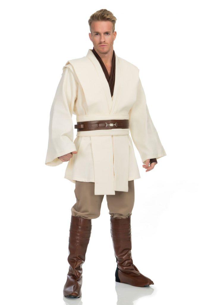 LICENSED ADULT MENS OBI WAN KENOBI STAR WARS FANCY DRESS HALLOWEEN COSTUME